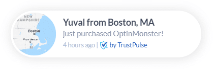 TrustPulse social proof FOMO popups