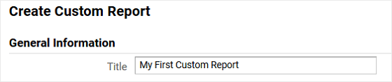 Name Custom Report