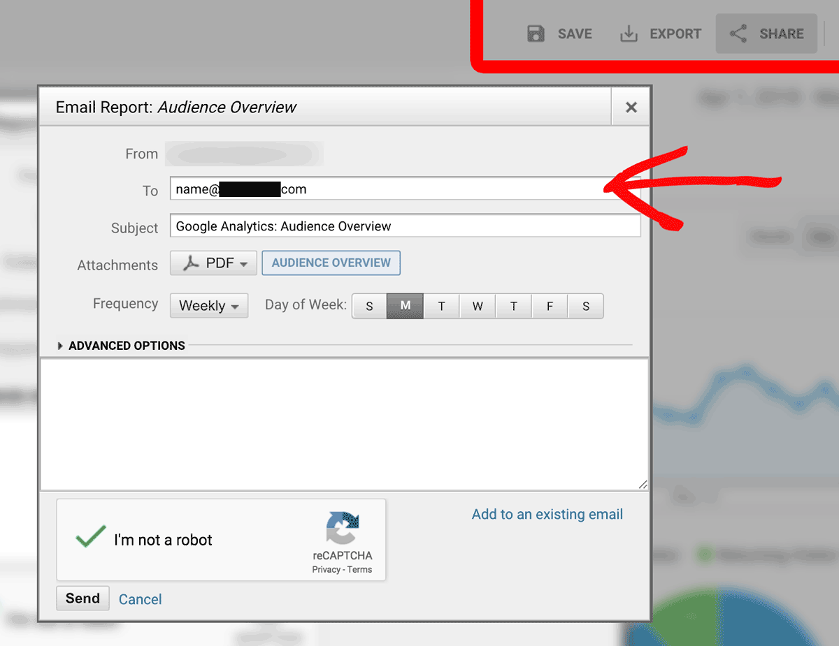 Reporting Data Export Options in Google Analytics