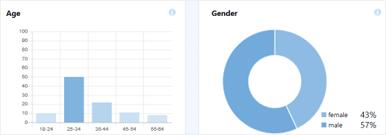 MonsterInsights Publishers Report, Age and Gender