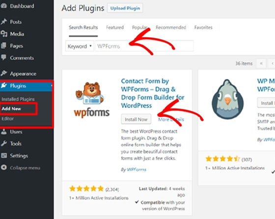 add-wpforms-to-wordpress