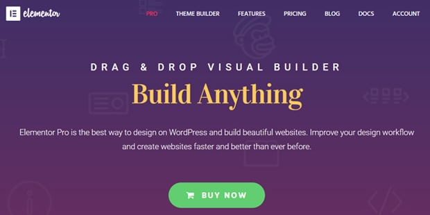 Elementor Drag and Drop WordPress Page Builder