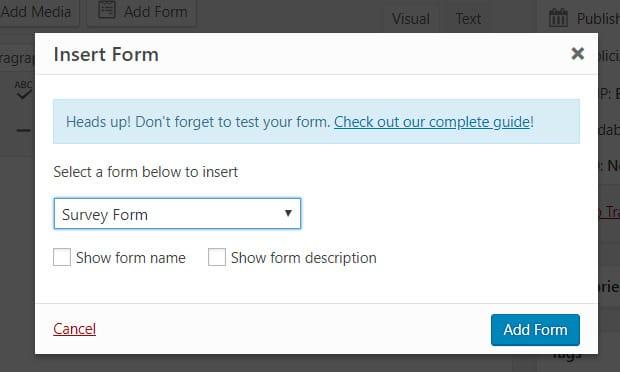 insert-survey-form-wpforms