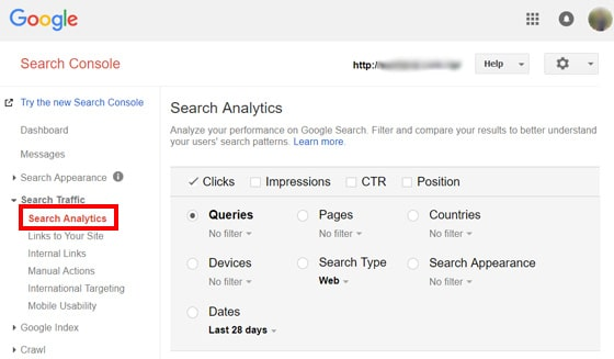 search-analytics-console