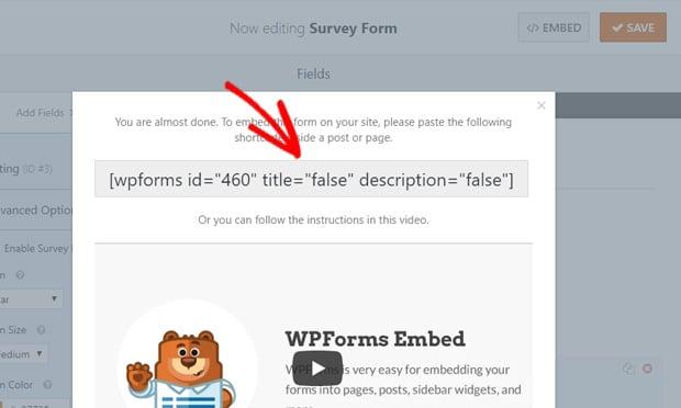 shortcode-survey-form