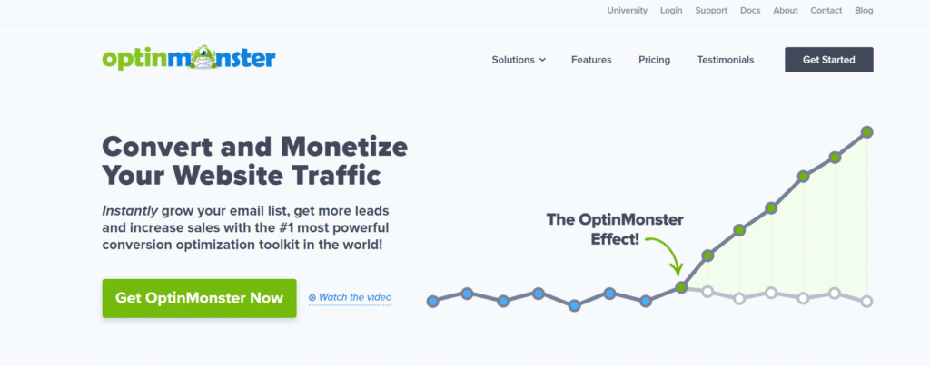 optinmonster best worpress landing page plugin