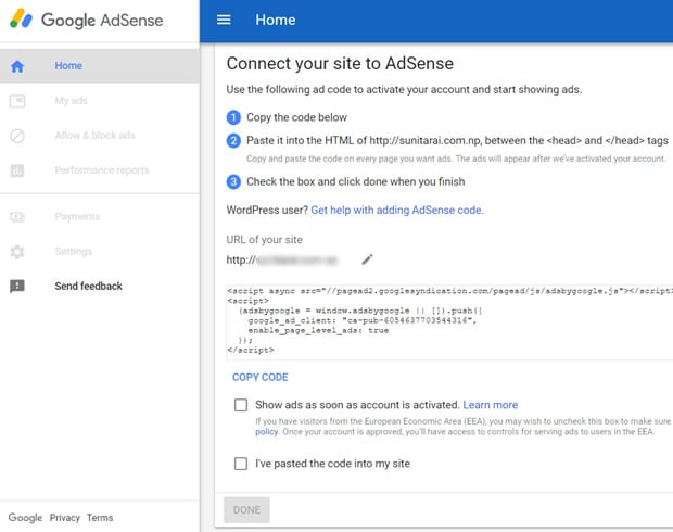 connect-wordpress-to-adsense