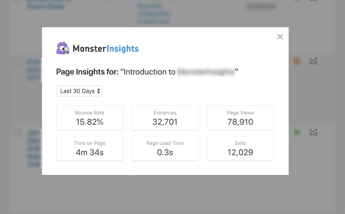 MonsterInsights Page Insights