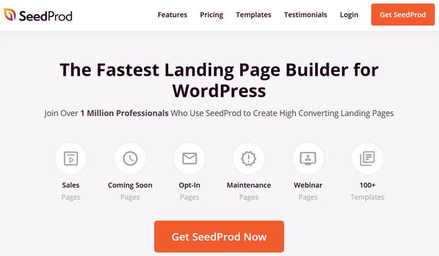seedprod landing page builder