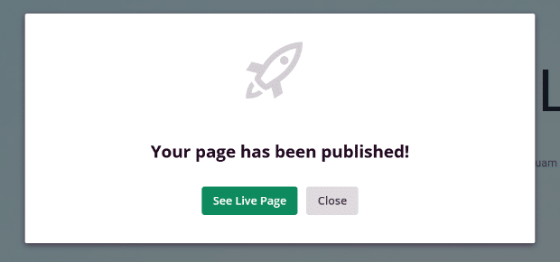 live landing page success message