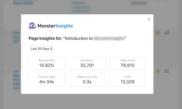 monsterinsights-page-insights-reports