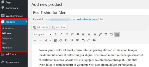 add-new-product-woocommerce