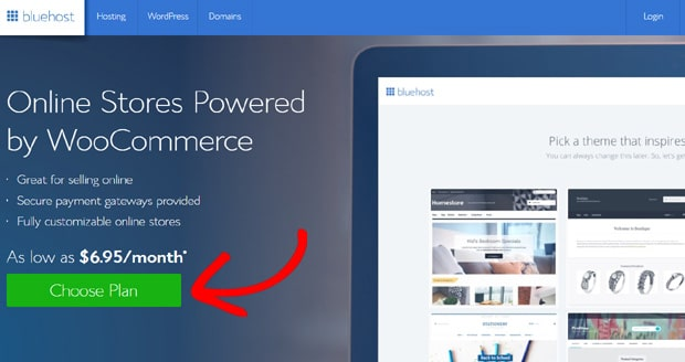 bluehost-for-woocommerce-choice-plan