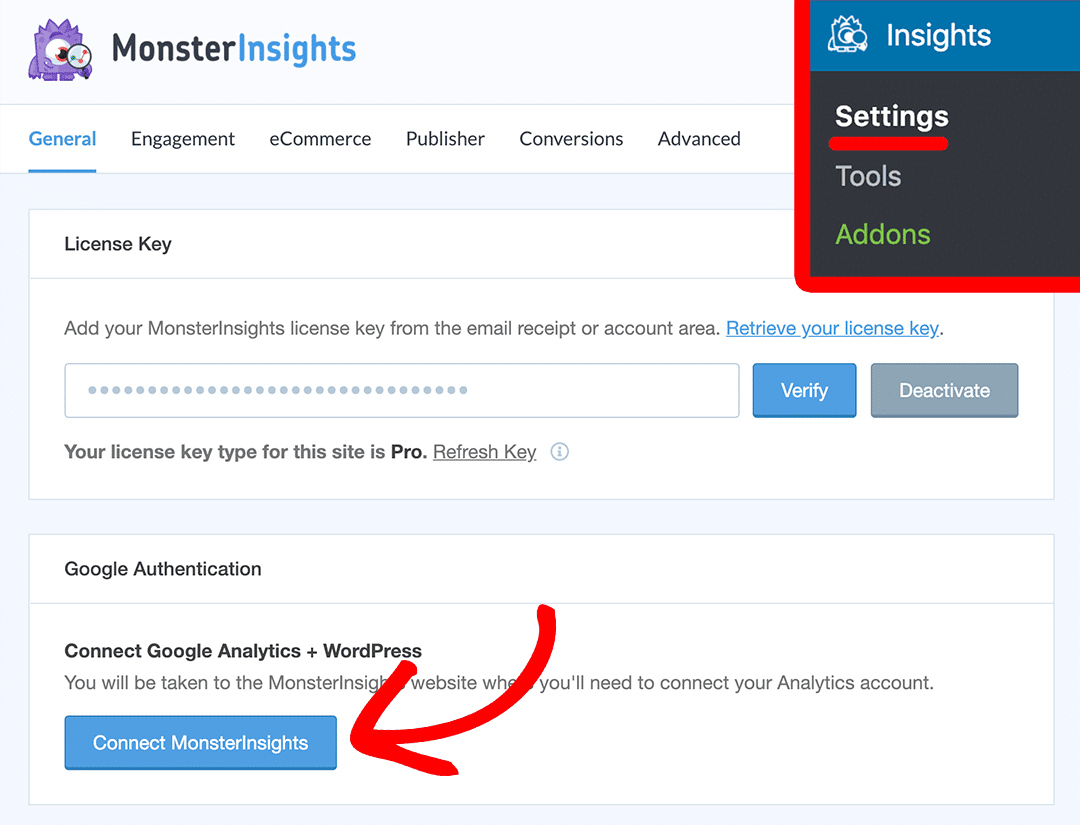 How to Connect To Google Analytics With MonsterInsights