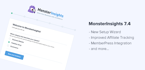 MonsterInsights 7.4