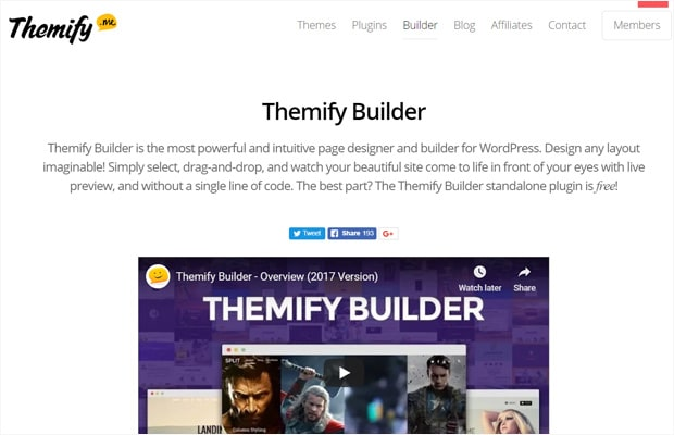 Le plugin Themify Builder WordPress Page Builder