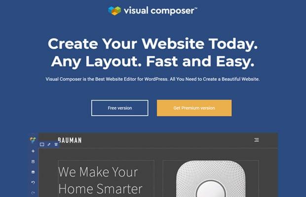 Compositeur visuel Meilleur constructeur de sites Web par glisser / déposer fr WordPress