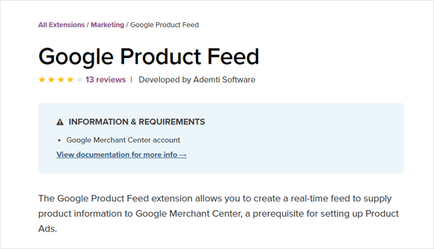 Google Product Feed WooCommerce Extension