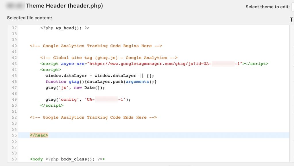 insert-code-into-theme-header