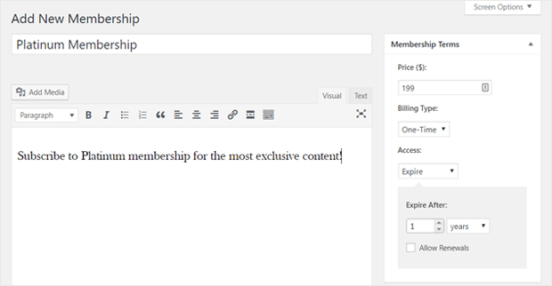 Add Membership Content in WordPress