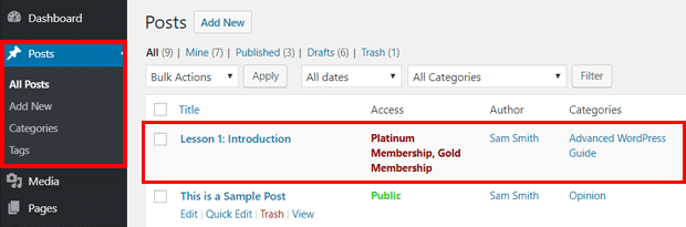 Members-only Content in WordPress