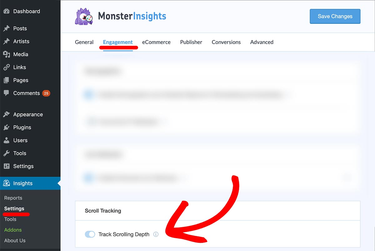 SCROLL DEPTH TRACKING WITH MONSTERINSIGHTS