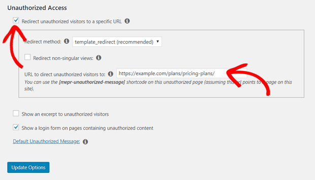 Redirect unauthorized users to Pricing Page
