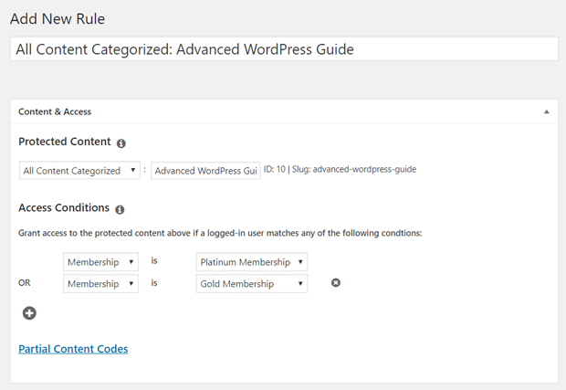 Set Up Membership Rule in WordPress