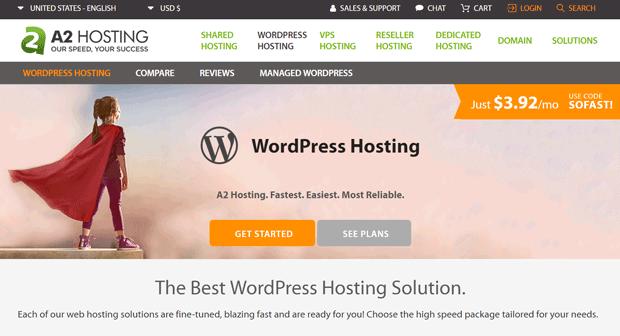 Hébergement A2 pour WordPress