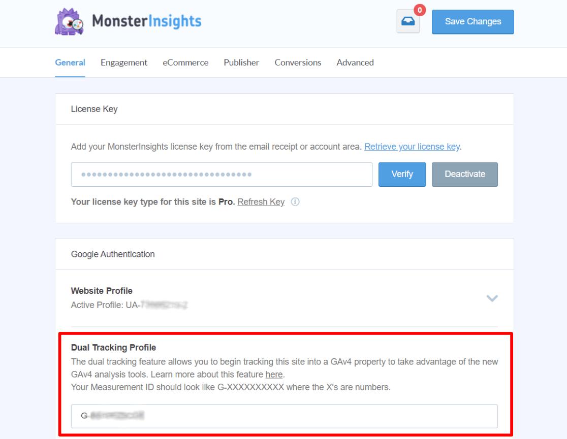 Dual tracking profile settings
