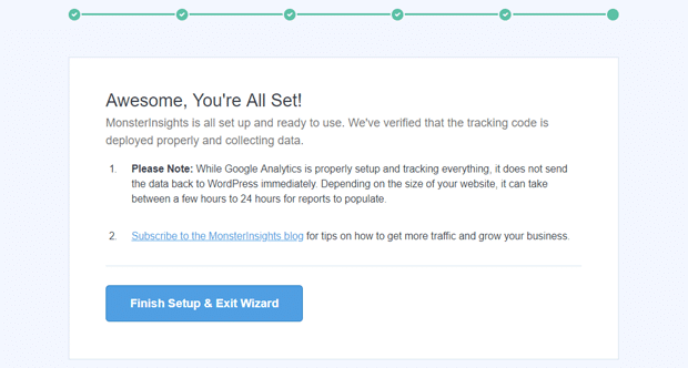 Finish MonsterInsights Setup in WordPress to Add Google Analytics