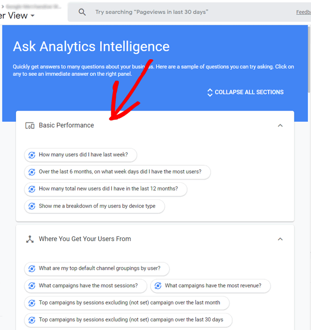 Google Analytics Intelligence Questions