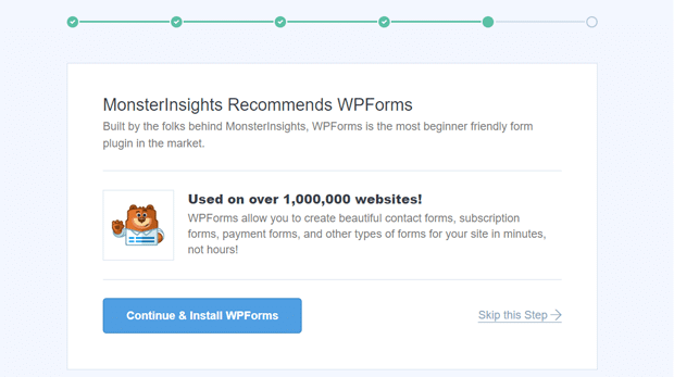 MonsterInsights Recommended Plugin WPForms