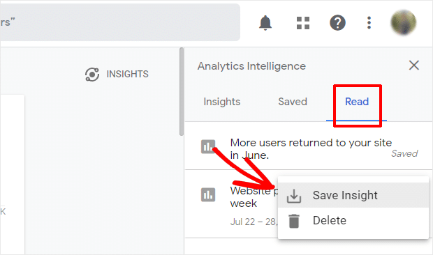 Save Insights