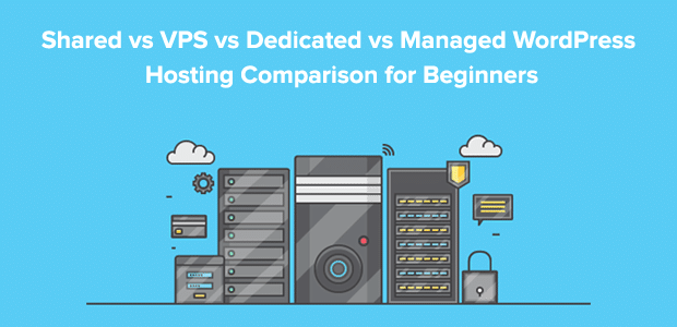 Shared vs VPS vs Dedicated vs Managed WordPress Hosting Compared