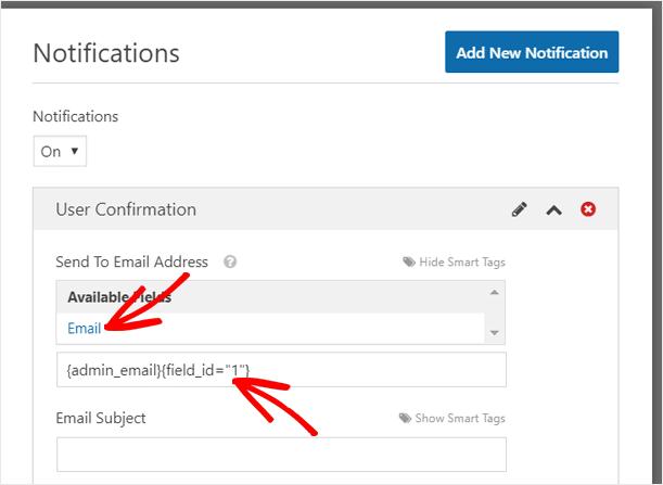 Ajouter une option de courrier électronique dans le champ Adresse d'envoi à l'adresse de messagerie