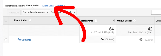 Click Event Label to View More User Scrolling Data