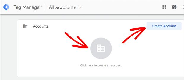 Créer un compte Google Tag Manager
