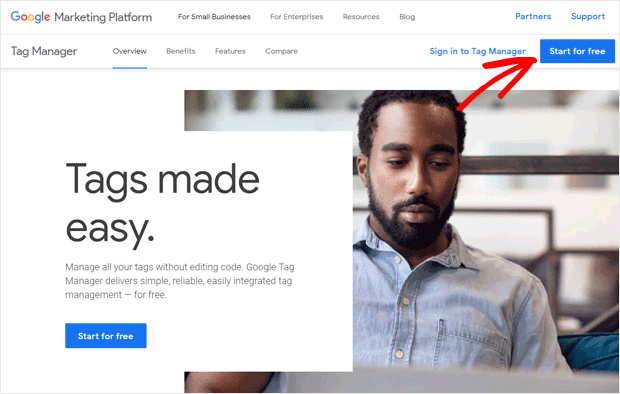 Sign Up for Google Tag Manager