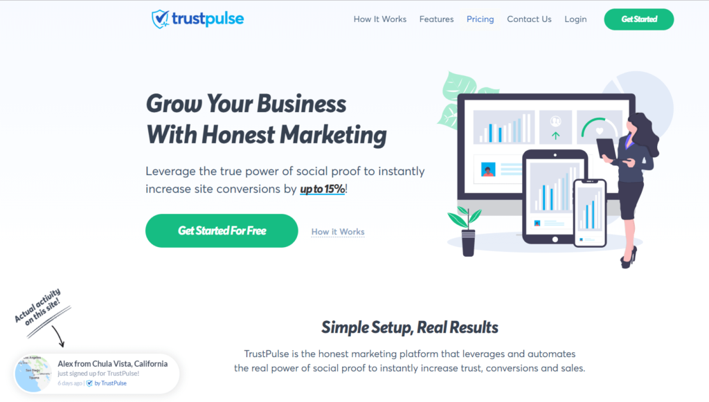TrustPulse the best FOMO best woocommerce plugins