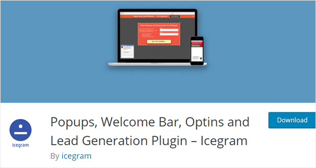 Icegram free Poup Builder Plugin WordPress
