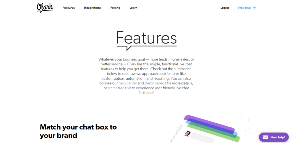enhance your customer service with Olark live chat box