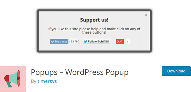Popups Simple WordPress popup plugin