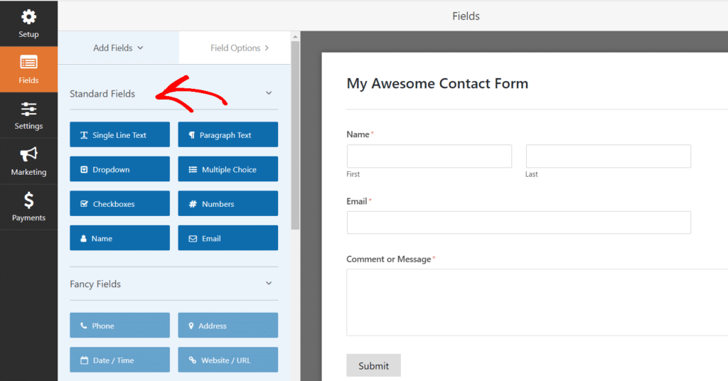 Add Fields and Customize Your Form