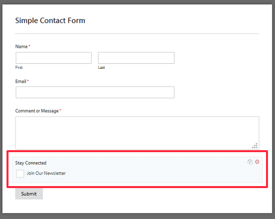 Add a Signup Checkbox in Simple Contact Form