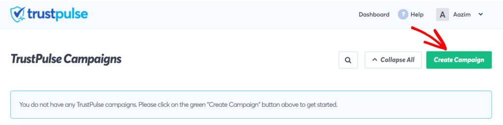 Step 4 Create Campaign in TrustPulse