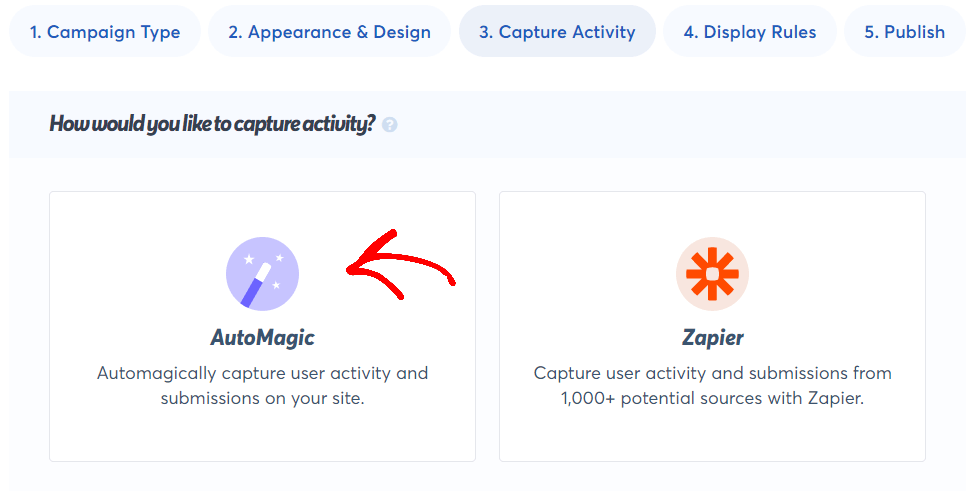Step 7 Capture activity