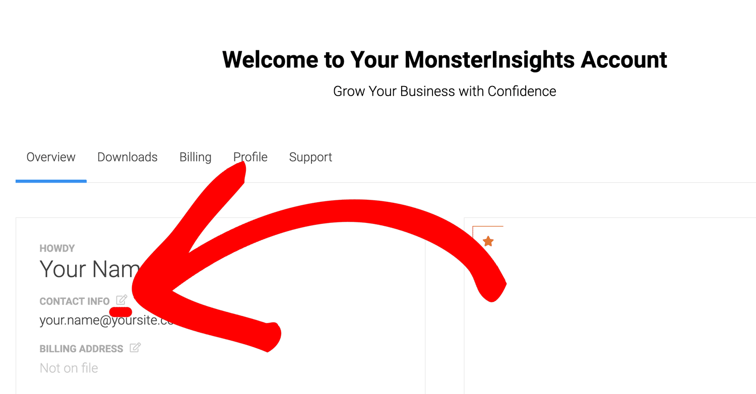 Change Email MonsterInsights Account