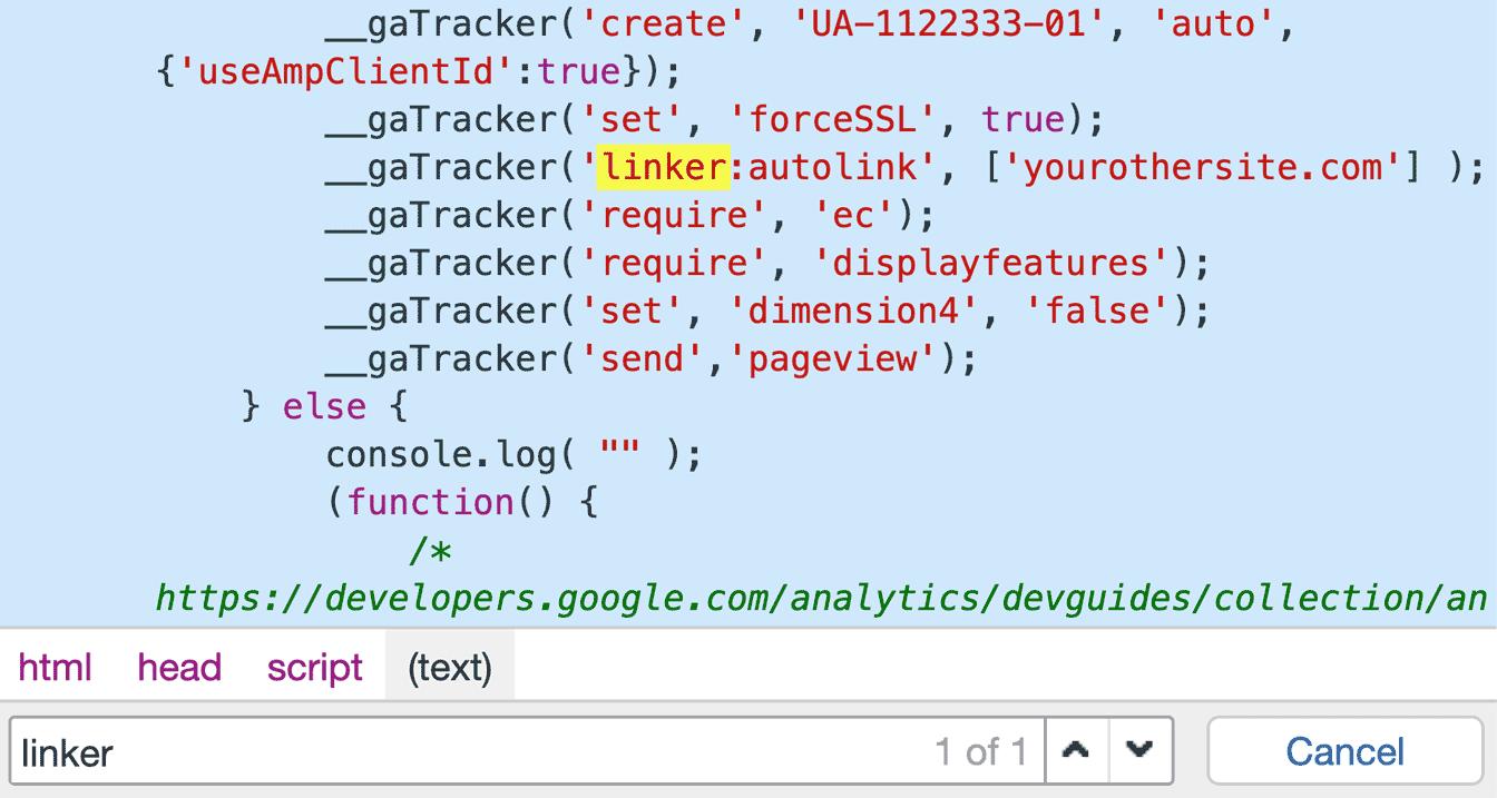cross-domain tracking code
