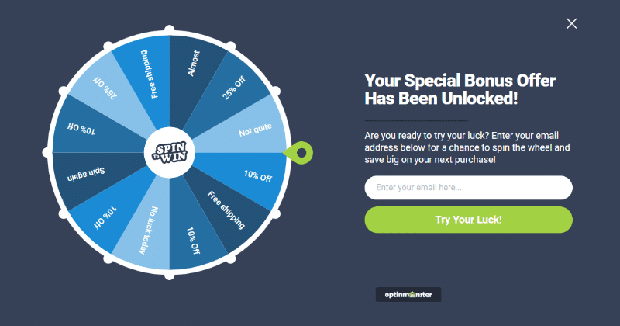 Coupon Wheel Optin Helps to Grow Your Email List